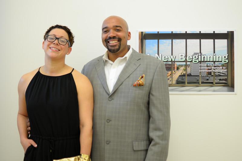 Brandi and Aaron Jones attend VAC opening