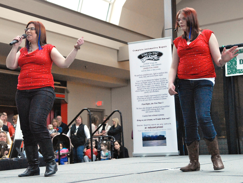 ". Jeff Forman/JForman@News-Herald.com Christina Putman and Kirsten Morcaski sing ""Take a Hint\"" at the Deepwood Idol Show March 29 at the Great Lakes Mall. The show was presented by the Lake County Board of Developmental Disabilities/Deepwood."