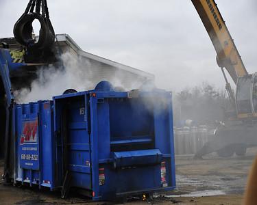 Dumpster fire in Hazle Twp. 11-21-13