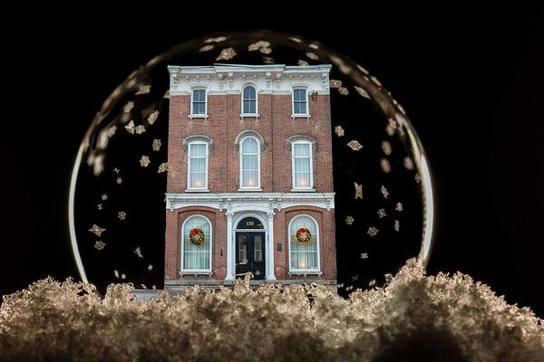 Waterville Buildings in Frozen Bubbles
