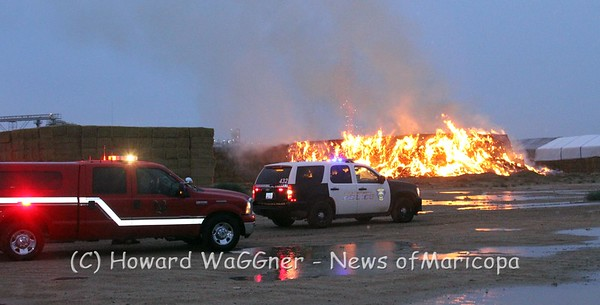 Lighnting caused hay fire 7-29-2012