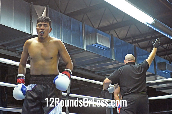 Bout #4: Ammy Boxing, Victor Valequez, Red Wrist Wraps, 161 Lbs-vs- Kyle Phillips, Blue Wrist Wraps, 171 Lbs