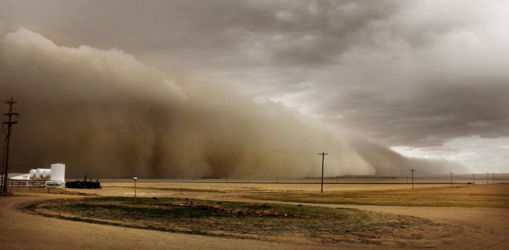 . John and Jane Stulp witnessed this massive dust storm approaching their farm near Lamar. Seven such storms have hit the area since November. (Jane Stulp, Special to The Denver Post)