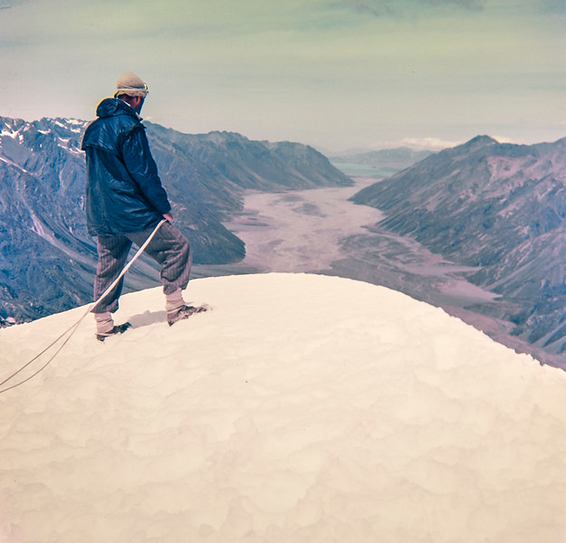 1954 JER Mathews on top of Mt D'Archiac.jpg