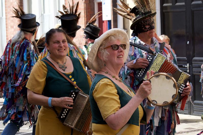 Procession musicians