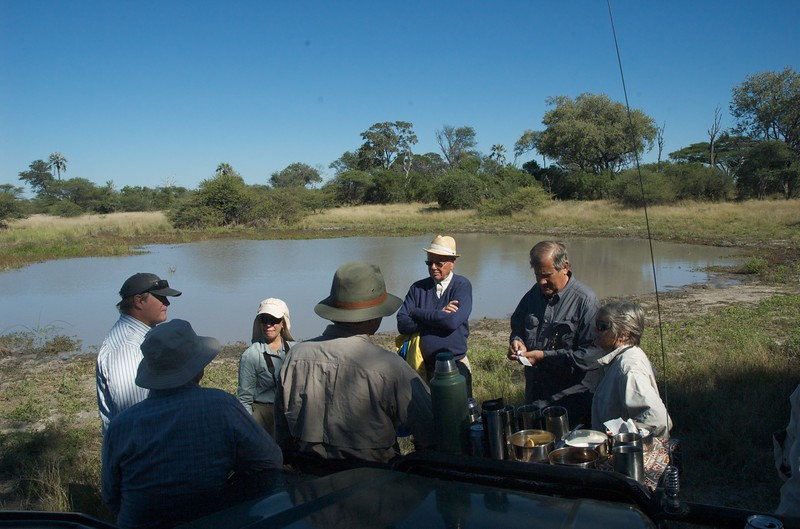 Mid-morning tea at Chitabe, Okavango Delta - Leslie Rowley