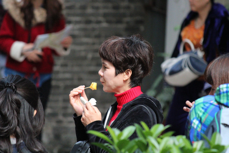 Chinese Lady Eating Lunch, Macau