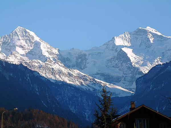 Interlaken - a view of the mountains