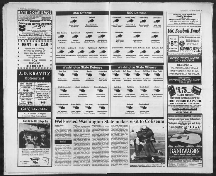 Daily Trojan, Vol. 132, No. 11, September 12, 1997