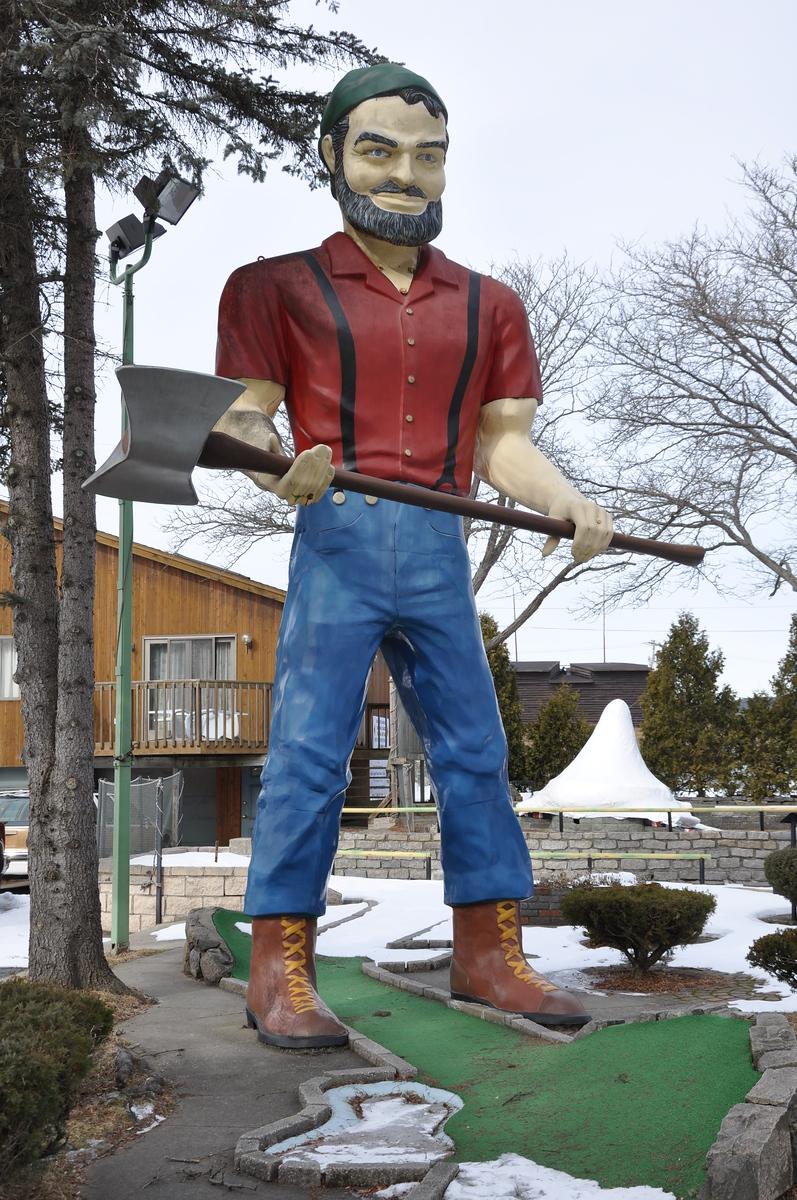 muffler man - around the work golf lake george new york