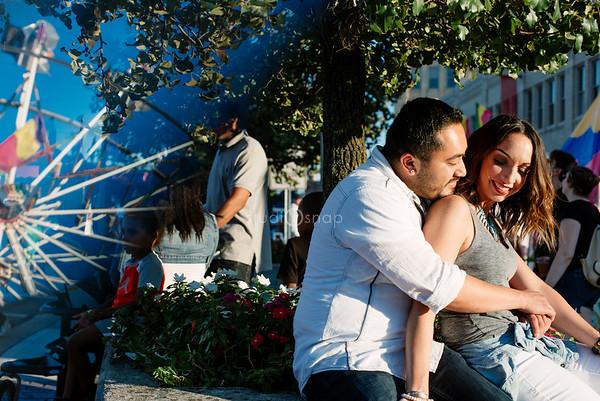 Stephanie & Sergio  | Engagement | Arts, Beats & Eats, Royal Oalk