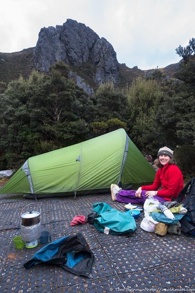 Rachel at a bumpy camp