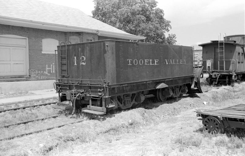 Tooele Valley Ry. snowplow, 1982. (Don Strack Photo)