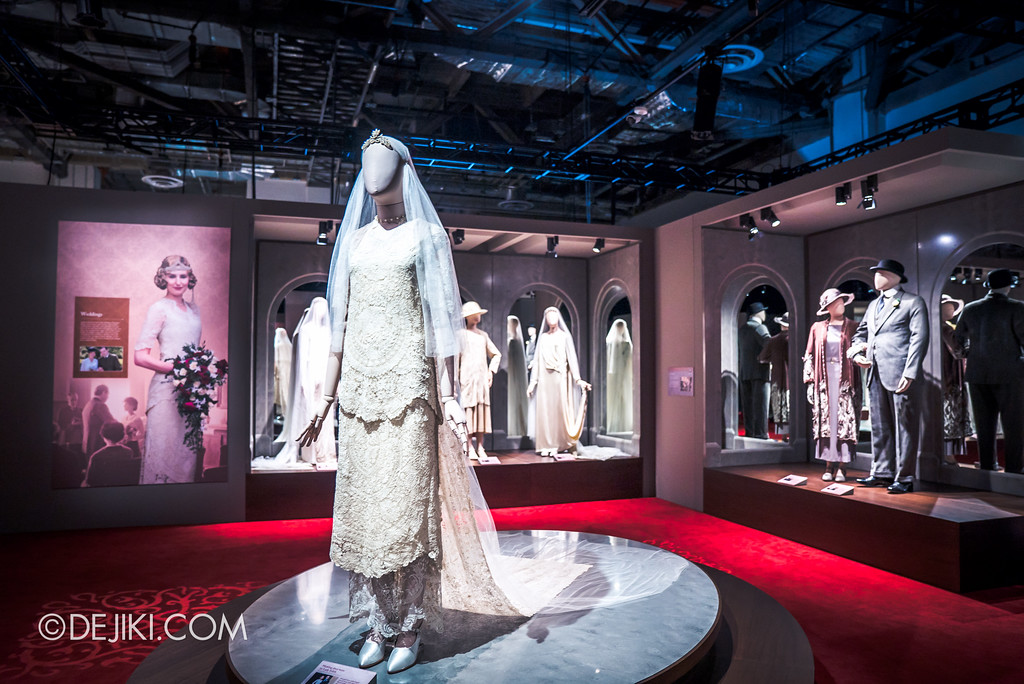 Downton Abbey The Exhibition - Wedding Outfits section