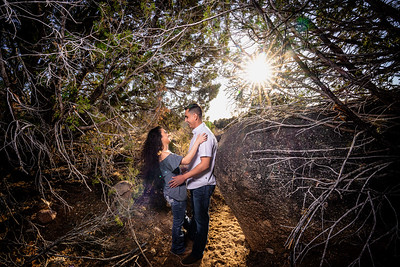 Albuquerque Foothills Late Winter Engagement Session