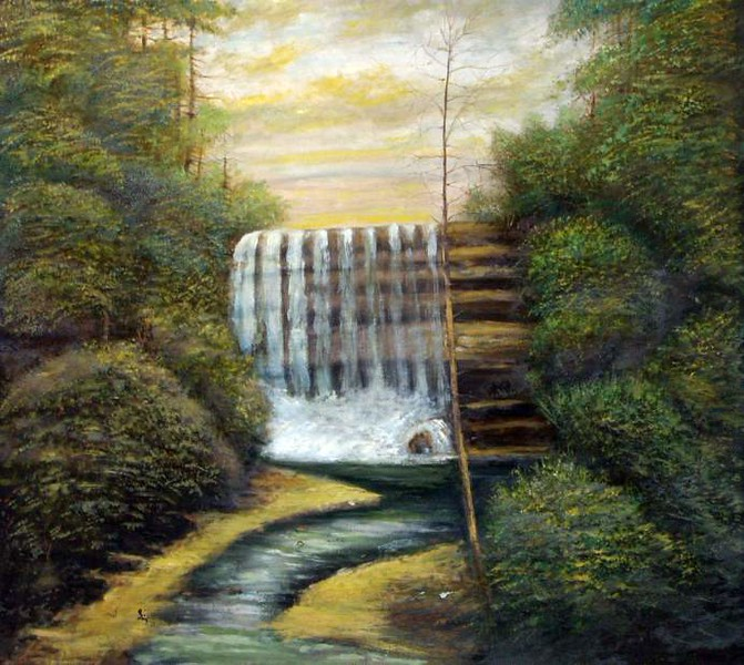 Buttermilk Falls by Jacob Sweitzer