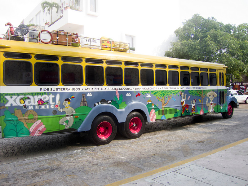bus to Xcaret, not our bus