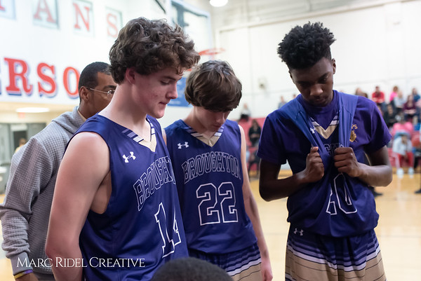 Broughton boys varsity basketball vs Sanderson. February 12, 2019. 750_6374