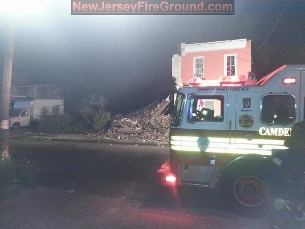 6-29-2014(Camden County) CAMDEN CITY Haddon-Atlantic- House Collapse
