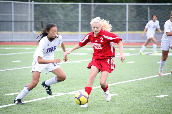 2011-10-04 IHS Girls JV Soccer vs Newport (1-1)