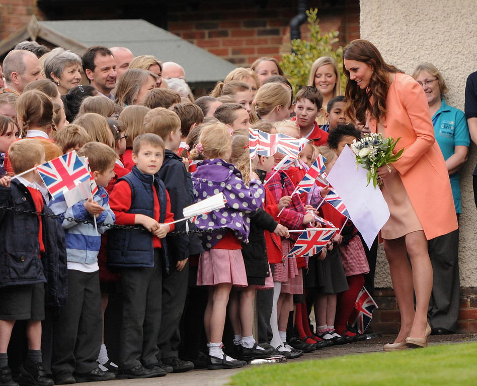 . Catherine, Duchess Of Cambridge visits Naomi House on April 29, 2013 in Hampshire, England.  (Photo by Eamonn M. McCormack/Getty Images)