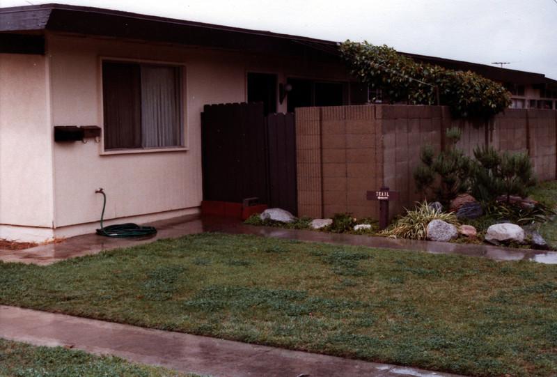 Our apartment on Burnham St, Buena Park, CA, 1982