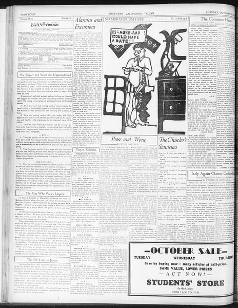 Daily Trojan, Vol. 23, No. 28, October 20, 1931