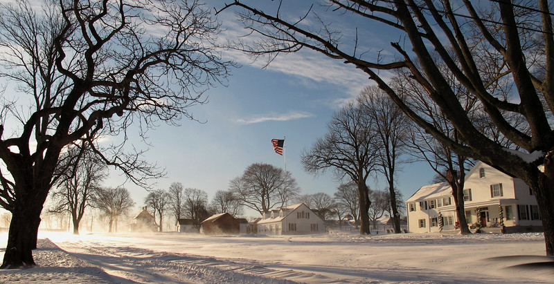 A farm in Chester, NJ after the snowfall on Dec 19, 2009