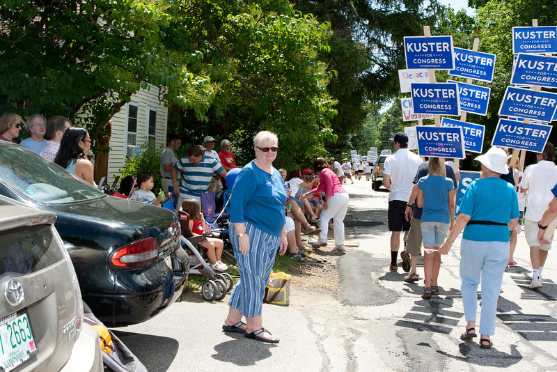 Kuster supporters.