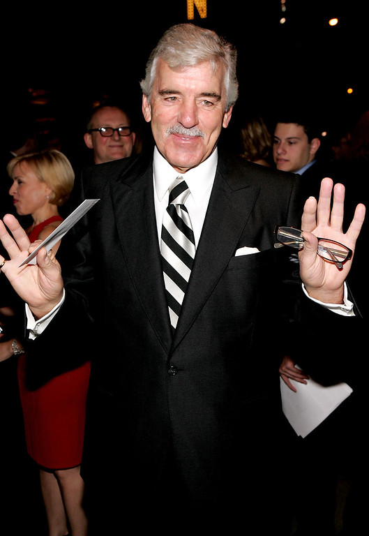 """. Actor Dennis Farina attends the play opening night of \""""Jersey Boys\"""" at the August Wilson Theater November 6, 2005 in New York City.  (Photo by Paul Hawthorne/Getty Images)"""