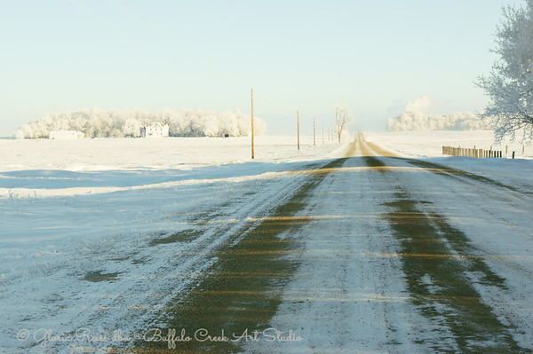 Frost and a gravel road to town