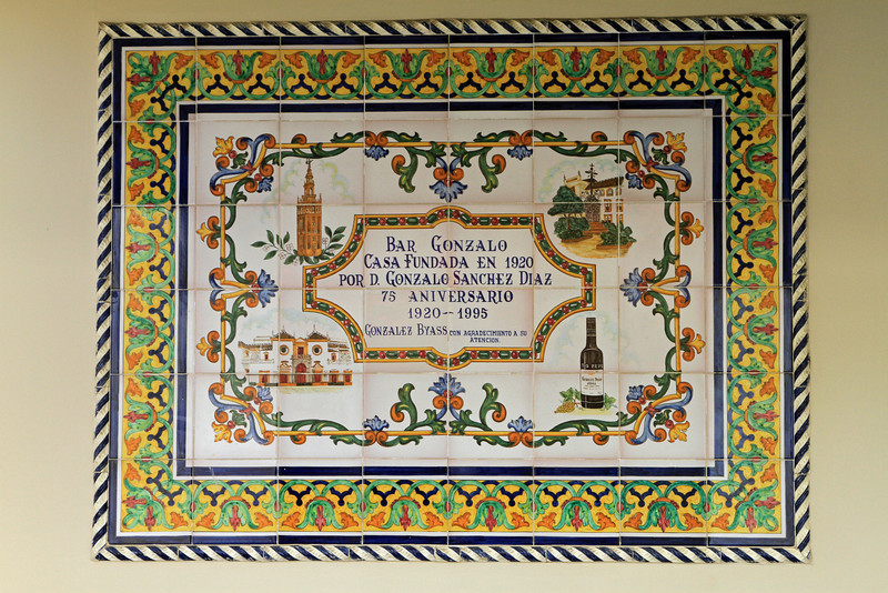 Azulejos are colourful glazed ceramic tiles which are a feature of Seville and adorn many buildings.