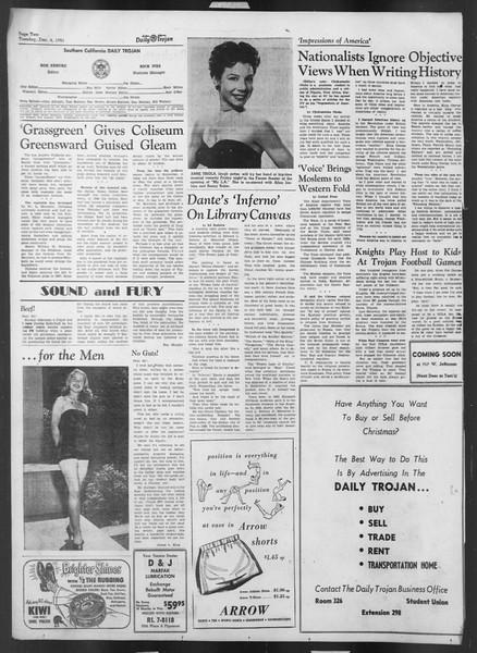 Daily Trojan, Vol. 43, No. 54, December 04, 1951