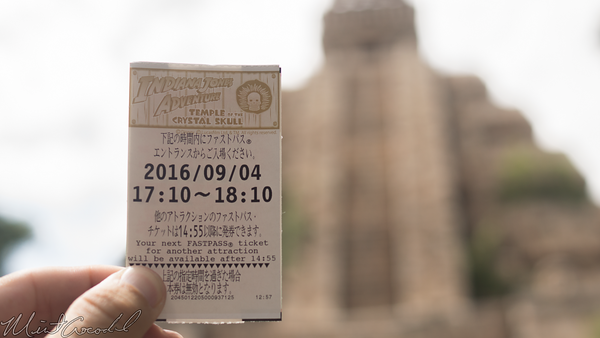 Disneyland Resort, Tokyo Disneyland, Tokyo Disney Sea, Tokyo Disney Resort, Tokyo DisneySea, Tokyo, Disney, Lost River Delta, Indiana Jones, Kingdom, Crystal, Skull, FastPass, Fast Pass, Fast, Pass
