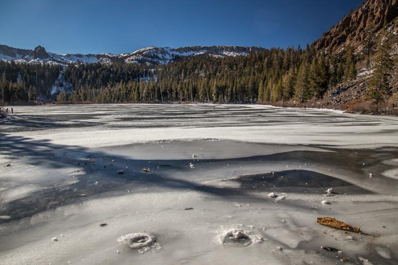 December 26 - Semi-frozen Tewin Lakes, Mammoth Lakes, CA.jpg