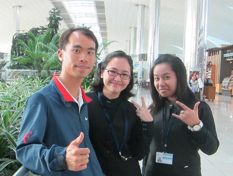 Dubai Tennis Fans at Airport