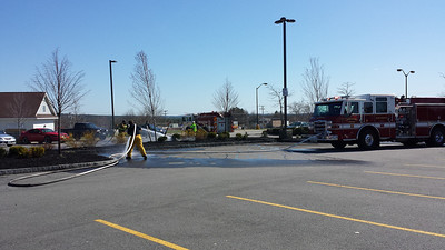 Market Basket Mulch Fire April 2014