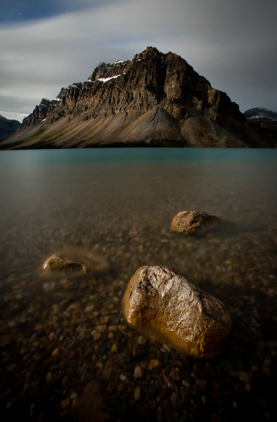"""Rocky Mountain Stillness"" III, Bow Lake, Banff National Park, Alberta, Canada."