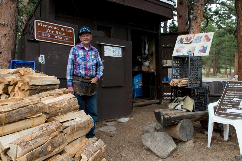 The ice/firewood/icecream man, Moraine Park campground, Rocky Mountain National Park, Colorado.