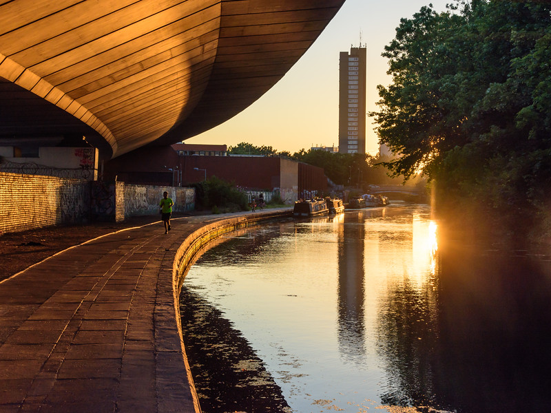 Westway flyover on the Grand Union Canal