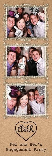 Fez & Bec's Engagement Party Photostrip Prints