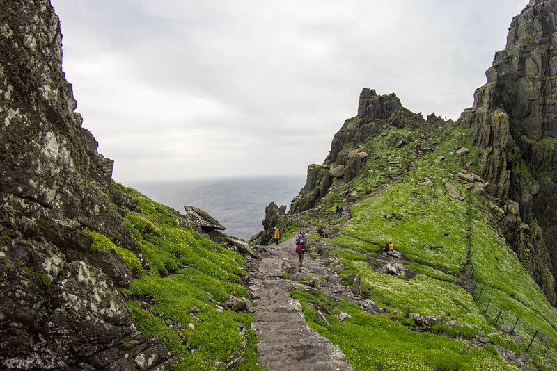 Stone stairs on Skellig Michael Island