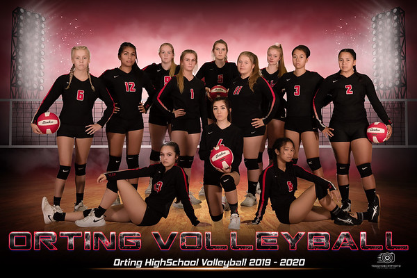 Orting Volleyball Team and Individuals Banners.