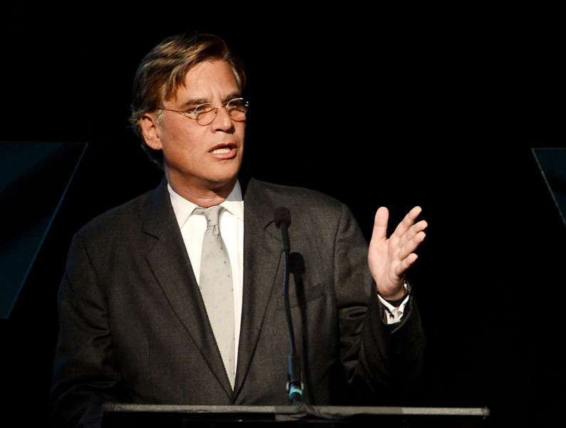 """. Writer Aaron Sorkin speaks at \""""An Evening\"""" benifiting The Gay & Lesbian Center at the Beverly Wilshire Hotel on March 21, 2013 in Beverly Hills, California.  (Photo by Kevin Winter/Getty Images)"""