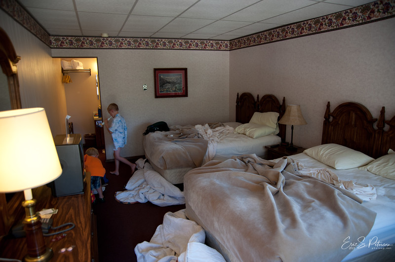 Our hotel room in Ouray, CO.