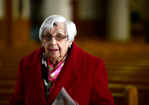 3/6/2019 Mike Orazzi | Staff Ann Matrazzo,93, after Ash Wednesday Mass at St Stanislaus Roman Catholic Church in Bristol.