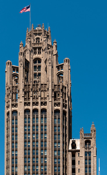 Top of the Tribune building.