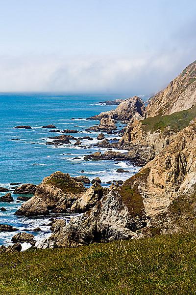 Pt. Reyes coast line, from Chimney Rock
