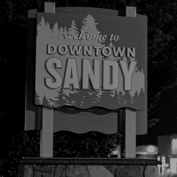 Sandy by night