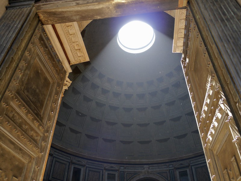 View of the oculus in the Pantheon.